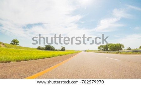 POV point of view - Traveling East on Interstate Highway 70. #702579970
