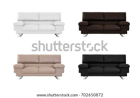 Sofa in various color isolated  in white background #702650872