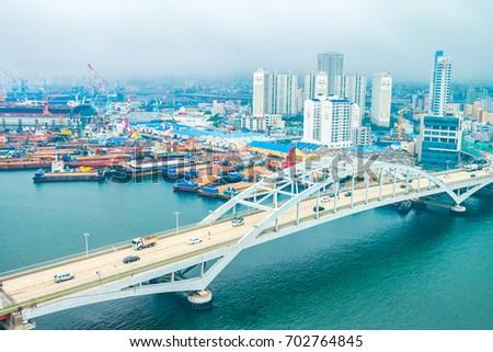 Cityscapes of Busan city South Korea #702764845