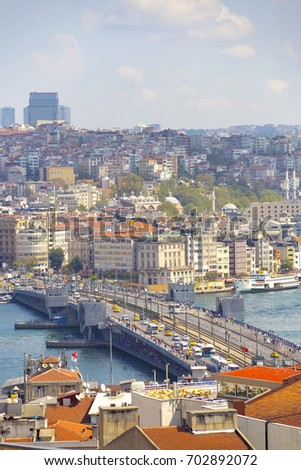 Istanbul Aerial View with Halic and Bosphorus #702892072