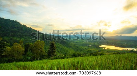 Landscape with beautiful sky. #703097668