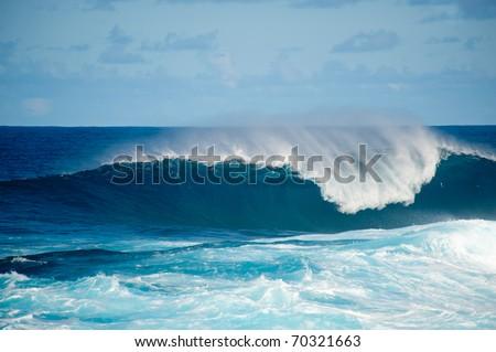 rough seas at La Fajana, Barlevento, La Palma, Canary islands, Spain Royalty-Free Stock Photo #70321663