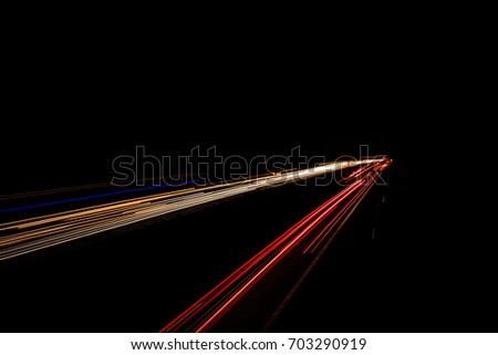 long time exposureon a german Autobahn Highway #703290919