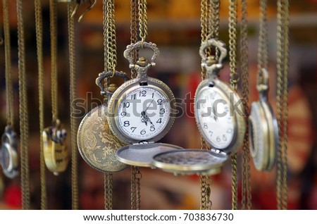 old silver pocket watch #703836730