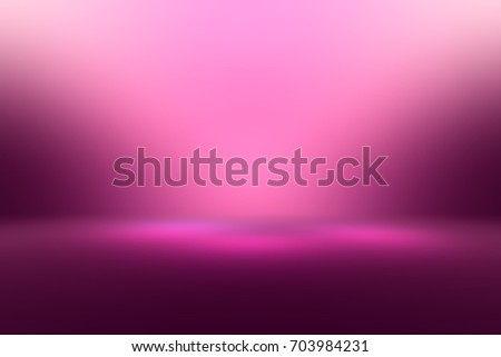 Pink empty room studio gradient used for background and display your product