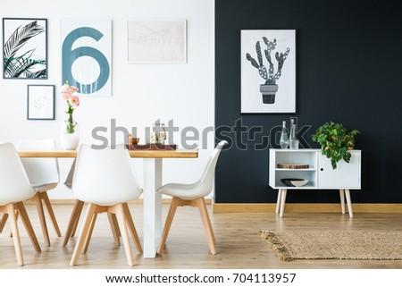 Modern scandi style interior home design