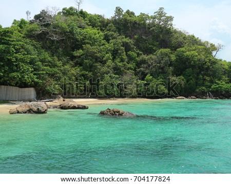 beach island lonely #704177824