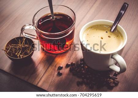 Hot coffee and tea #704295619