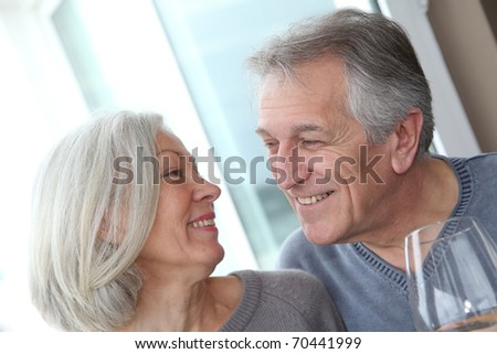Portrait of happy in loved senior couple #70441999