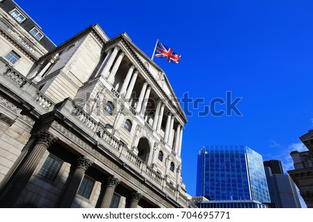 Bank of England for your travel concept Royalty-Free Stock Photo #704695771