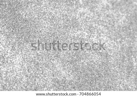 Silver glitter abstract bokeh background Christmas.  #704866054