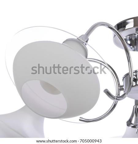 Chandelier isolated on white background #705000943