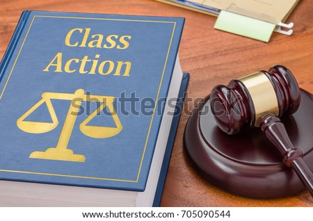 A law book with a gavel - Class action #705090544