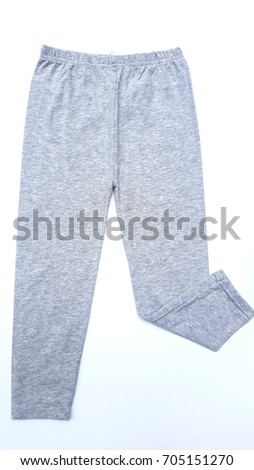 Baby Leggings Pants on white background, clothes for children. #705151270