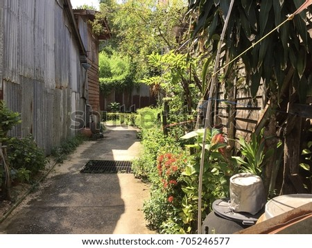 mystery alley in oldtown #705246577