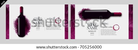 Idea design for catalog or magazine for wine bottles. Design elements separated by layers. Vector illustration