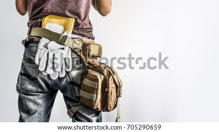 construction worker  isolated white background #705290659