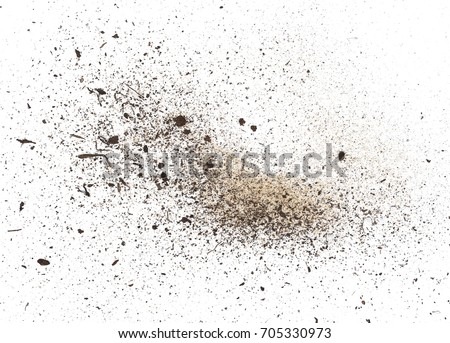 dust isolated on white background, with clipping path Royalty-Free Stock Photo #705330973