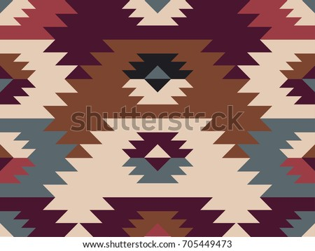 American prairie pattern. Seamless Abstract ethnic pattern. Tribal design. Seamless Native American pattern. Can be used for the design of textiles, fabrics, wallpapers and backgrounds
