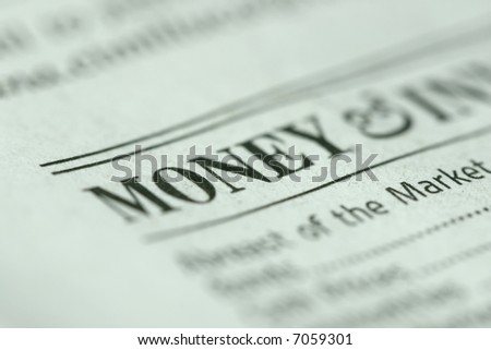 "Shallow depth of field with ""money"" and paper texture in focus. #7059301"