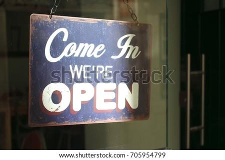 Open signage #705954799