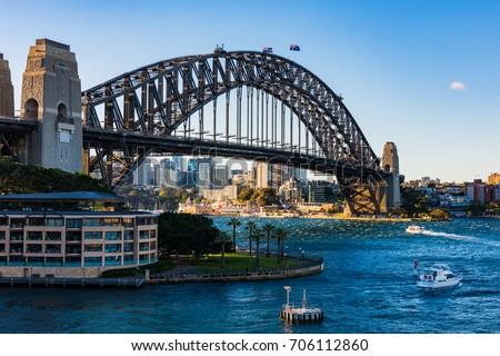 Sydney Harbor Bridge Royalty-Free Stock Photo #706112860