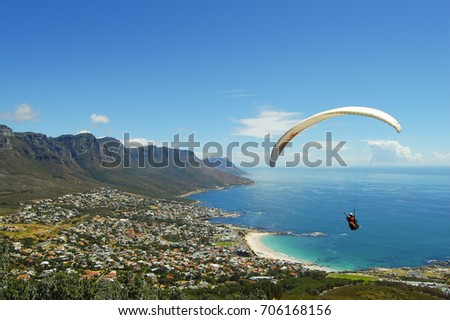 Paragliding - Cape Town - South Africa Royalty-Free Stock Photo #706168156