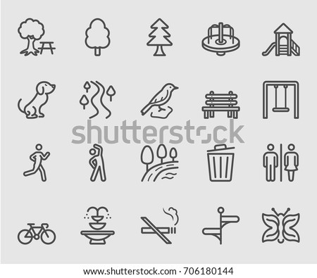 Park outdoor line icon Royalty-Free Stock Photo #706180144