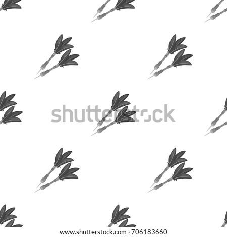 Darts for the wind gun.African safari single icon in monochrome style vector symbol stock illustration web.