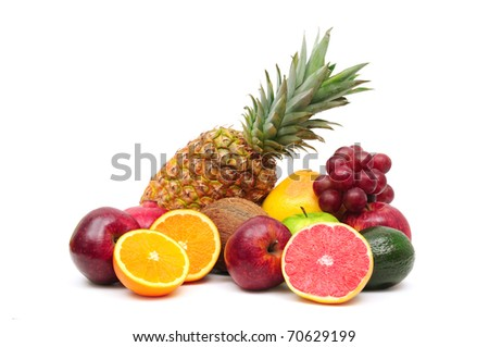 fruits isolated on a white background #70629199