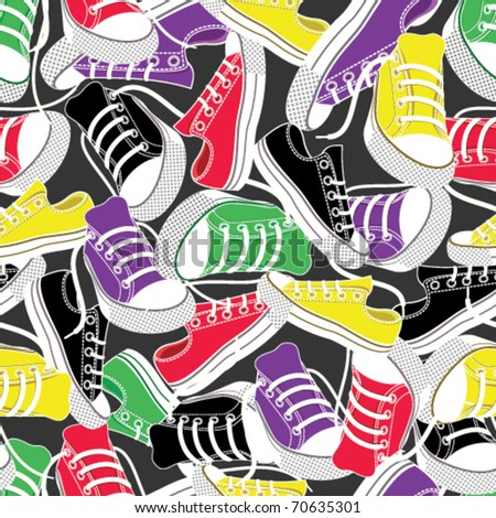 colored gumshoes for sport seamless background