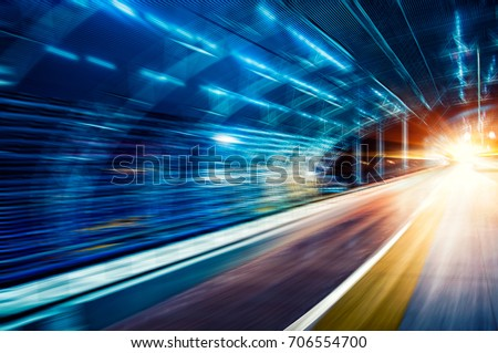 Car speed, dynamic background