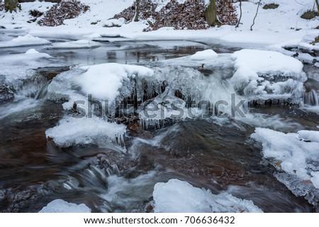 German stream in wintertime #706636432