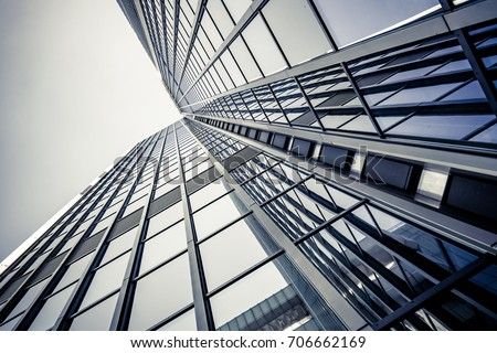 office building. skyscraper Royalty-Free Stock Photo #706662169