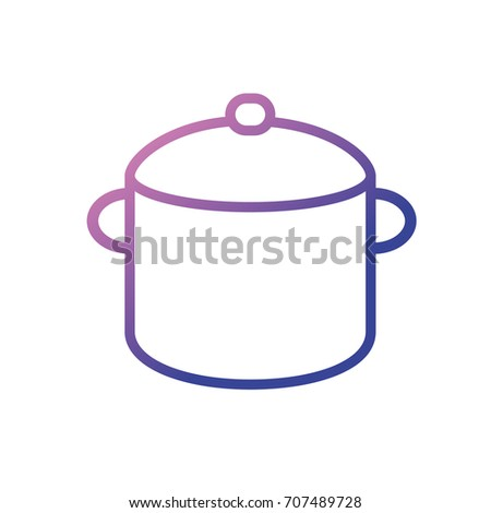 line boiler pan kitchen utensil object to cuisine #707489728