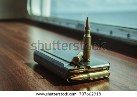A magazine with the bullets #707662918