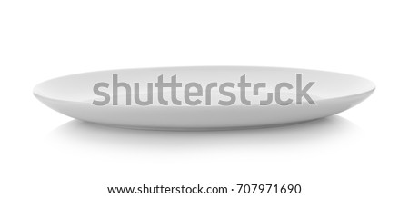 white plate on white background #707971690