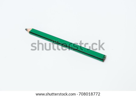 Green carpenter pencils isolated on white background #708018772