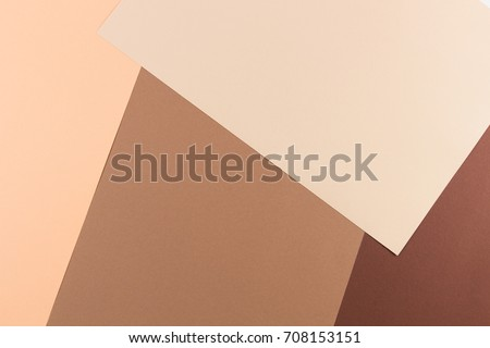 Color papers geometry composition background with pink, beige and brown tones #708153151