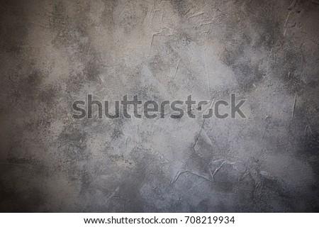 Concrete texture, loft interior wall background. Vignette Royalty-Free Stock Photo #708219934