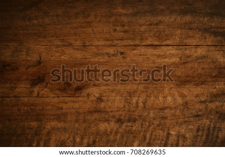 Old grunge dark textured wooden background,The surface of the old brown wood texture #708269635