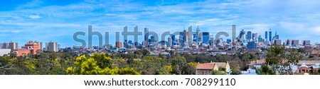 A large panorama of the city of Melbourne, Victoria, Australia #708299110