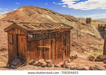 Old building in the Calico Ghost Town in San Bernardino County, California Royalty-Free Stock Photo #708304603