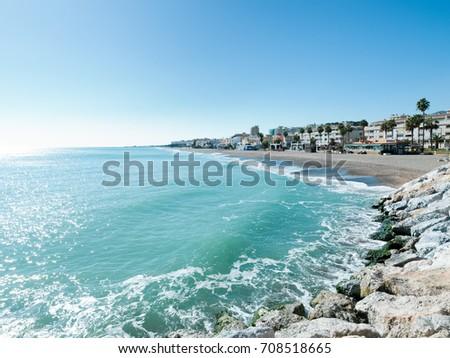Punta de Torremolinos, Torremolinos, Costa del Sol Occidental, Malaga, Andalusia, Spain #708518665