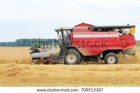 machinery for harvesting grain #708913387