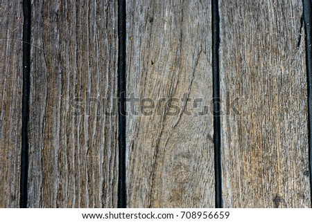 brown wood bench close up structure view #708956659