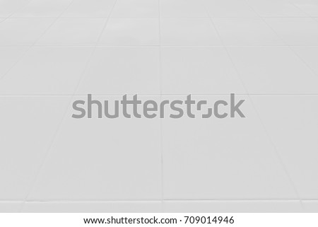 Tiled floor marble white ideal for a background and used in interior design. #709014946