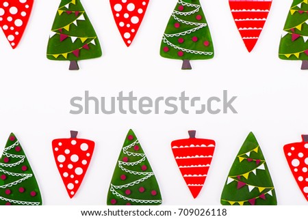 Christmas background, cartoon Christmas tree.