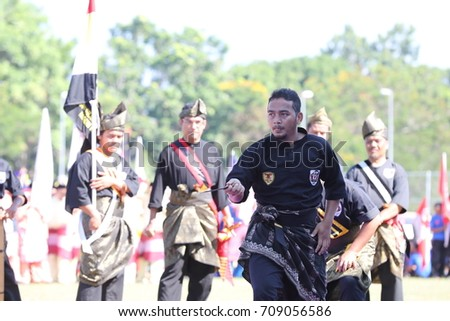 Kota Bharu,Kelantan - 31 August 2017 :Silat performance in conjunction with the 60th Independence Day Celebration of Kelanta State. #709056586