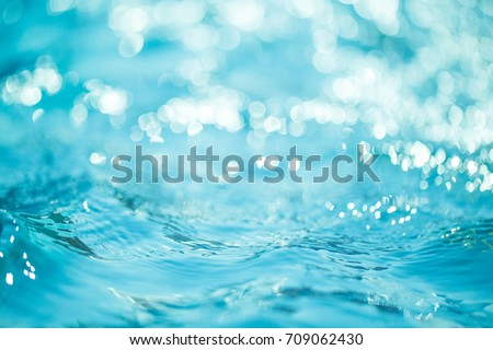 Natural bokeh blue water backgrounds. #709062430
